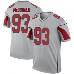 Youth Clinton McDonald Arizona Cardinals Youth Legend Inverted Silver Nike Jersey