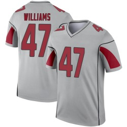 Youth Drew Williams Arizona Cardinals Youth Legend Inverted Silver Nike Jersey