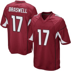 Youth Jermiah Braswell Arizona Cardinals Youth Game Cardinal Team Color Nike Jersey