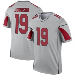 Youth KeeSean Johnson Arizona Cardinals Youth Legend Inverted Silver Nike Jersey