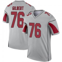 Youth Marcus Gilbert Arizona Cardinals Youth Legend Inverted Silver Nike Jersey
