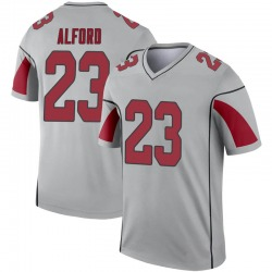 Youth Robert Alford Arizona Cardinals Youth Legend Inverted Silver Nike Jersey