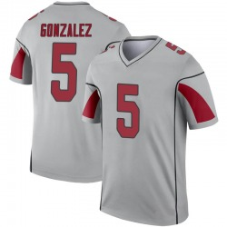 Youth Zane Gonzalez Arizona Cardinals Youth Legend Inverted Silver Nike Jersey