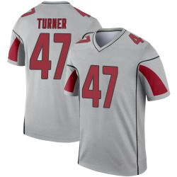Youth Zeke Turner Arizona Cardinals Youth Legend Inverted Silver Nike Jersey