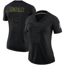 Zane Gonzalez Arizona Cardinals Women's Limited 2020 Salute To Service Nike Jersey - Black
