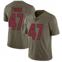 Zeke Turner Arizona Cardinals Men's Limited Salute to Service Nike Jersey - Green