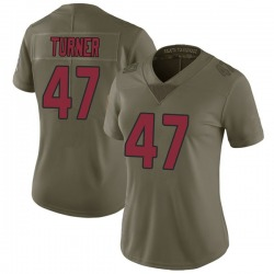 Zeke Turner Arizona Cardinals Women's Limited Salute to Service Nike Jersey - Green