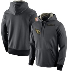 Men's Arizona Cardinals Anthracite Salute to Service Player Performance Hoodie