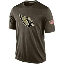 Men's Arizona Cardinals Olive Salute To Service KO Performance Dri-FIT T-Shirt