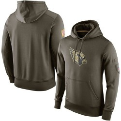 Men's Arizona Cardinals Olive Salute To Service KO Performance Hoodie
